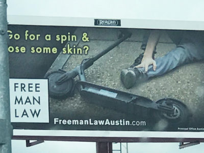 electric scooter accident billboard lawyer lawfirm